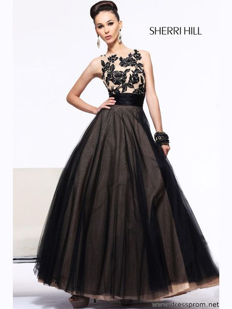 9b692d2103 List of Pinterest pron dresses ball gown black lace sherri hill ...