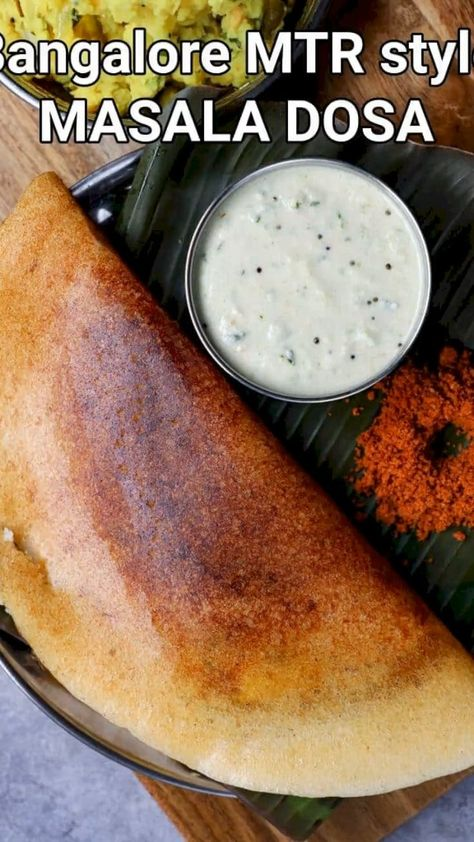 mtr masala dosa recipe | mtr bangalore style masala dose | thick masala dosa with detailed photo and video recipe. a unique and authentic bangalore style masala dosa recipe prepared with mix of boiled rice and white rice. unlike the traditional masala dosa recipe, the texture of this dosa is thick and dark red in colour. this is because of the dosa batter which is prepared uniquely with a combination of boiled rice, idli rice and urad dal.