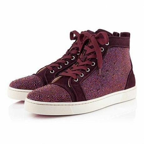823d64807b3d Christian Louboutin Louis Strass Mens Flat in Purple for Men - Lyst   ChristianLouboutin