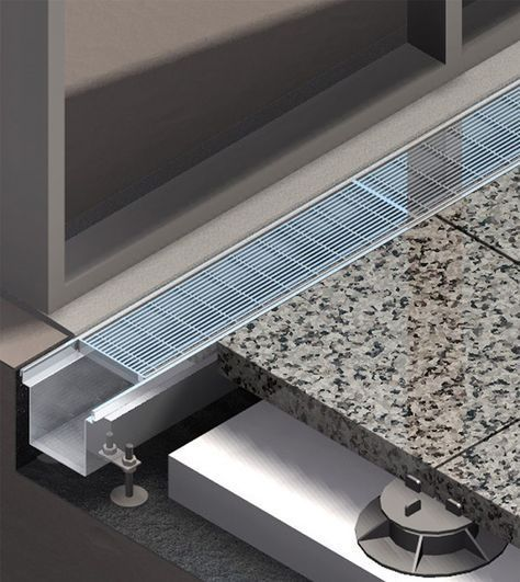 Facade Threshold Balcony Drains Exterior Drainage Surface Water Drains Floor Drains Architecture Details