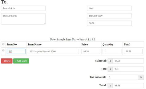 autocomplete invoice system using jquery ideas for the house