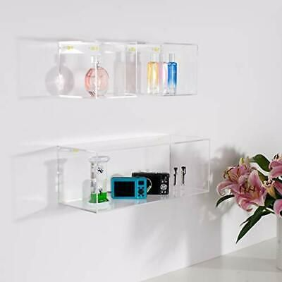 Set Of 3 Crystal Clear Acrylic Floating Storage Wall Mounted Shelves 16 5 5 Ebay In 2020 Wall Mounted Shelves Mounted Shelves Acrylic Shelf