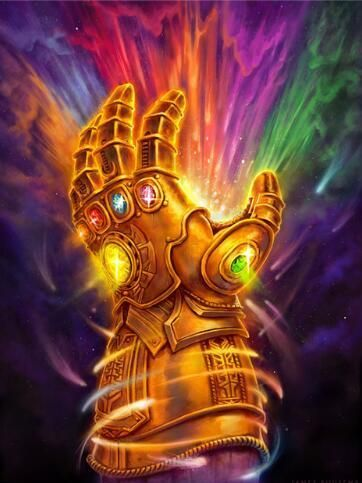 New The Infinity Gauntlet With Stones Diamond Painting Kit Marvel Vingadores Desenhos Da Marvel Vingadores Personagens