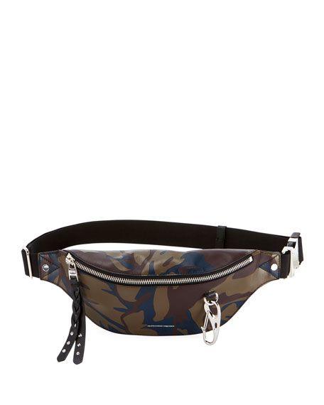 7c9fbc4895e ALEXANDER McQUEEN | Harness Camo Leather Fanny Pack Bag | CAD 1,752.32 |  Alexander McQueen camo-print calfskin belt bag. Adjustable waist strap.