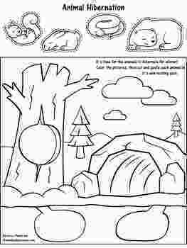 Free Hibernation Coloring Pages, Download Free Clip Art, Free Clip ... | 350x263
