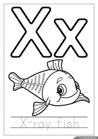 X Ray Fish Coloring Page Alphabet Coloring Page Letter X