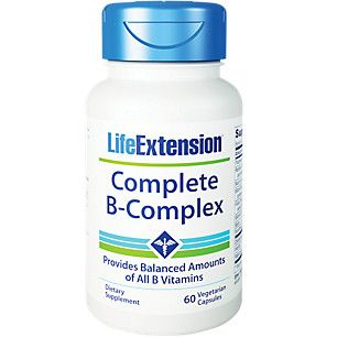 Complete B Complex 60 Vegetarian Capsules By Life Extension At The Vitamin Shoppe Life Extension Supplements Dietary Supplements