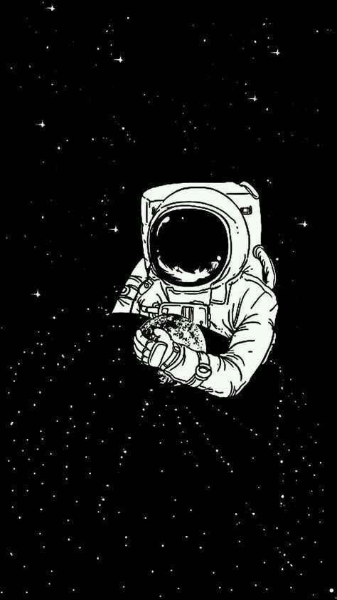 Pin On Wallpapers Astronaut black and white wallpaper