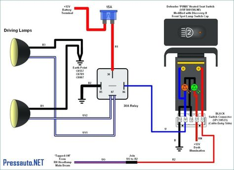 5 Pin Relay Wiring Diagram Spotlights Auto Diagrams Pic Of 3 ...  Pin Wire Diagram on
