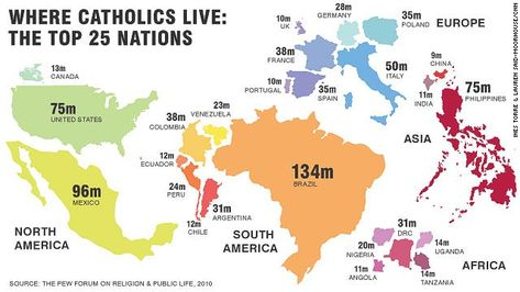 Image result for catholic countries  map image