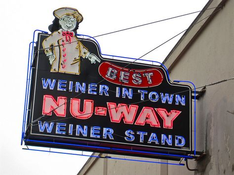 Nu-Way Weiner Stand, 430 Cotton Avenue, Macon, Georgia. Serving up chili dogs in Macon since 1916. photo by Robby Virus on Flickr!  *best sweet tea & flaky ice in town*