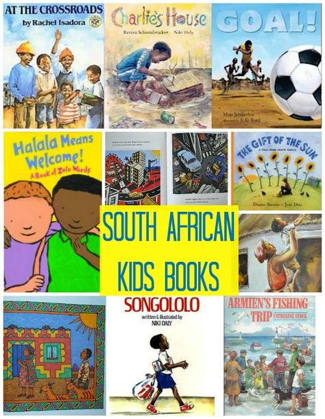 #kidlit #globaled Explore South Africa through Children's Books: learn about the languages, kids living in cities and rural areas, on the coast, outside of mines, and playing soccer. Beautiful illustrations and stories.