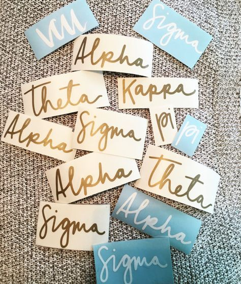 Hand drawn Greek Letter Sorority Sticker Vinyl by ParkAvePrints