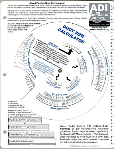 Hvac Ductwork Sizing Chart : ductwork, sizing, chart, Calculator, Daves, World, Within, Sizing, Chart, 24391, Duct,, Conditioning,