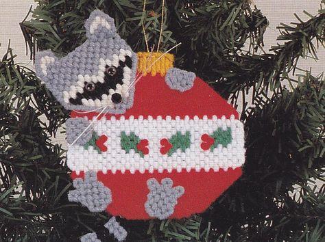 Christmas Ornaments Plastic Canvas Pattern, via Etsy.