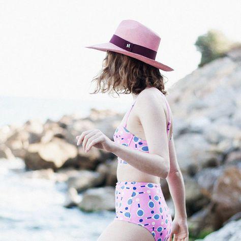 718956302e2 Hats – Eva Wide Brim Panamá Pink – a unique product by CATALINA-R on DaWanda