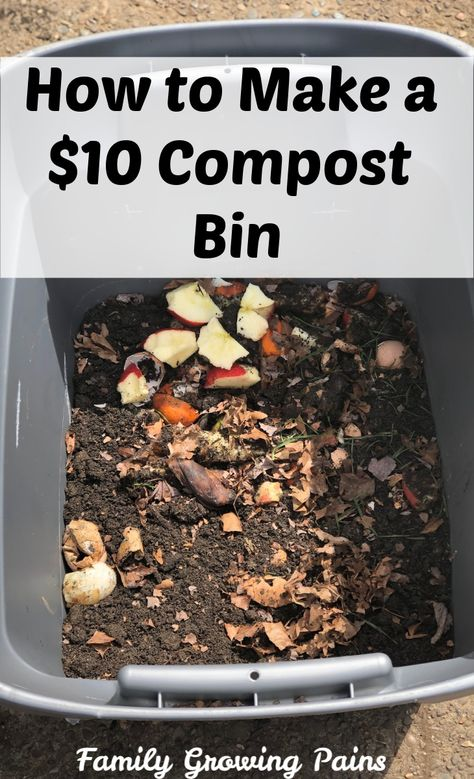 Composting is one of the best things you can do for your garden, but a compost bin can cost between $50 and $300. Here is how I made my $10 compost bin, and this DIY compost bin will work well!