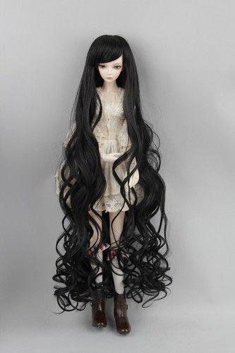 "7-8/"" 1//4 BJD White Straight Long Wig LUTS Doll SD DZ DOD MSD Fairyland Hair"