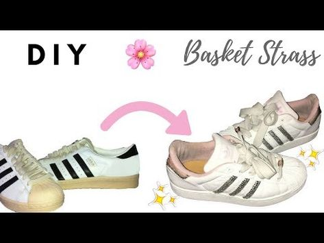 Rénover de vieilles basket Comment customiser des adidas superstar ? BLING SNEAKERS shantiglam