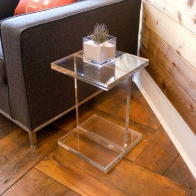 Felicity Acrylic Rectangular Side Table Acrylic Side Table Side