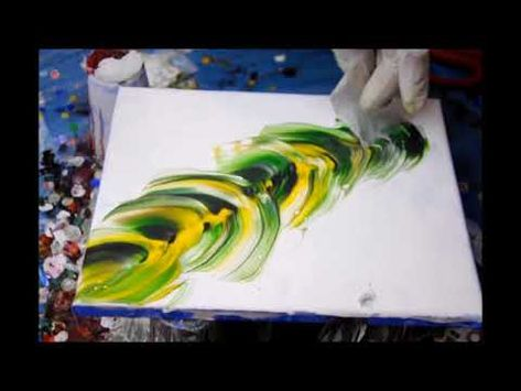 Fluid Art Painting 14 Swiped Feather Youtube Acrylmalerei