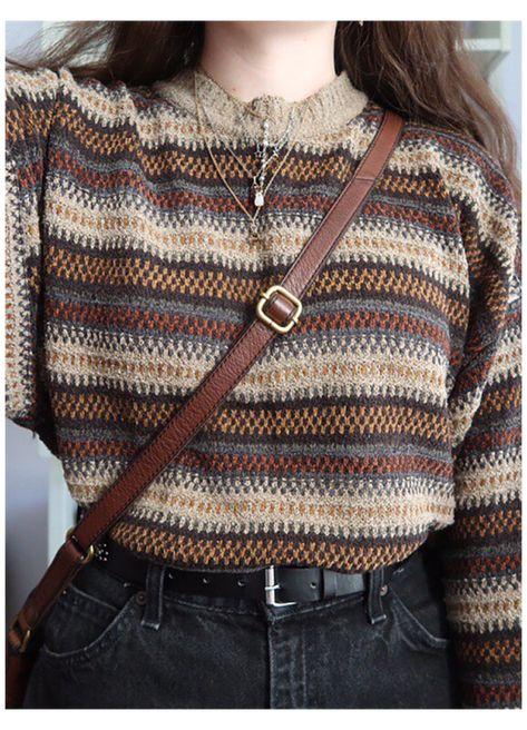 Trouser Outfits, Sweater Outfits, Casual Outfits, Fashion 90s, Knit Fashion, Club Fashion, Fashion Hacks, Latex Fashion, 1950s Fashion