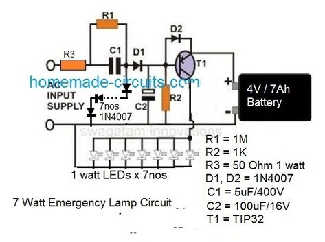 Hi Watt Automatic Emergency Led Emergency Lights Emergency Lighting Circuit Projects