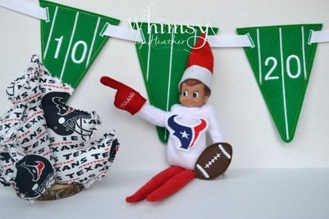 Elf Texans Elf Texans Elf Shirt Football Elf by WhimsyByHeather