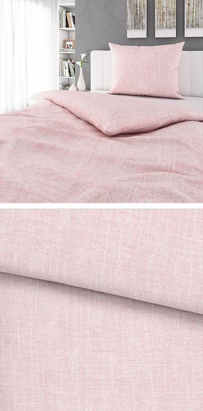 Hellrosa Bettwasche Mit Betonoptik 140x200 Bettwasche Bett Und Zuhause