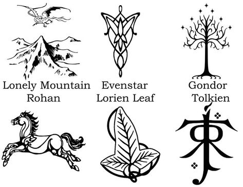 Your place to buy and sell all things handmade Lord of the Rings/Hobbit Decals Gondor Rohan EvenstarLoney Hobbit Tattoo, Tolkien Tattoo, Tatouage Tolkien, Lotr Tattoo, J. R. R. Tolkien, Tattoo Ringe, Lord Of The Rings Tattoo, Silver Skull Ring, O Hobbit