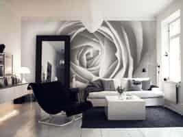 Black And White Giraffe Wall Mural Bath Finals Wall