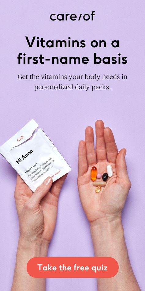 Get the vitamins your body needs in personalized daily packs. Take the free quiz to get started.