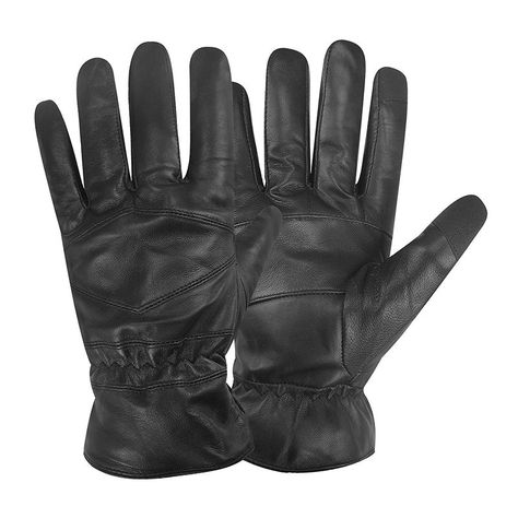 Pratt and Hart Mens Lambskin Winter Leather Gloves with Thinsulate Lining