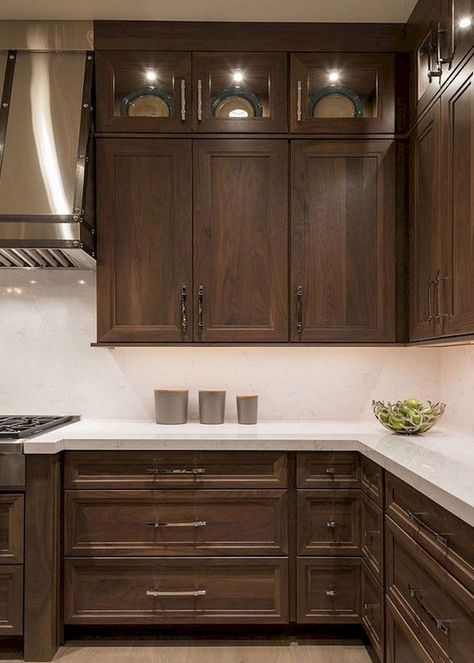 Beautiful Kitchen Backsplash With Dark Cabinets Decor Ideas 5