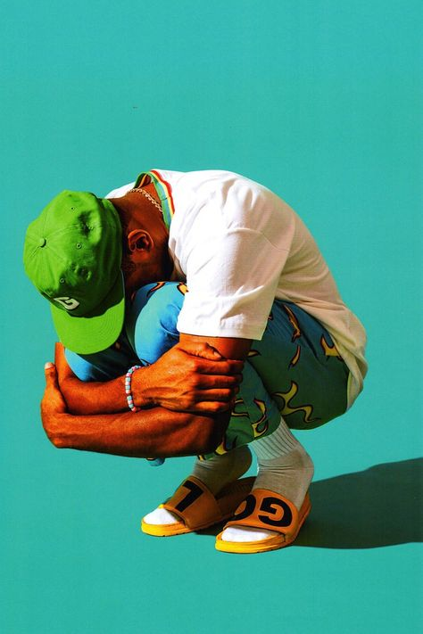 """Golf Wang Releases a Highly Saturated 2016 Fall/Winter Collection - Golf Wang 2016 Fall/Winter Collection Tyler the Creator """"Golf Wang 2016 Fall/Winter Collection Ty - Pose Reference Photo, Drawing Reference, Odd Future, Art And Illustration, Black Is Beautiful, Desenho New School, Tyler The Creator Wallpaper, Poses References, Poster S"""