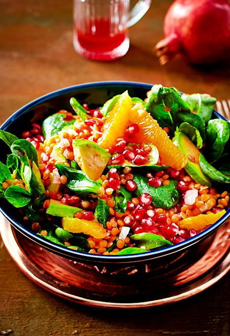 Salat Weihnachten.Wintersalat Mit Roten Juwelen Rezept In 2019 Food Rezepte