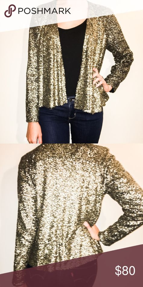 a3342f1f3ed Functional brand gold sequined swing jacket Gold sequins
