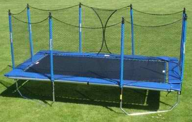 Kids Rectangular Trampoline With Enclosure Safety Rectangle