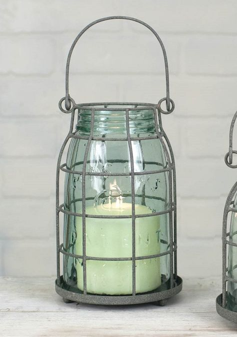 Vintage Replica Rustic Mason Jar Cloche 1//2 Gallon Tea Light Pillar Taper Holder