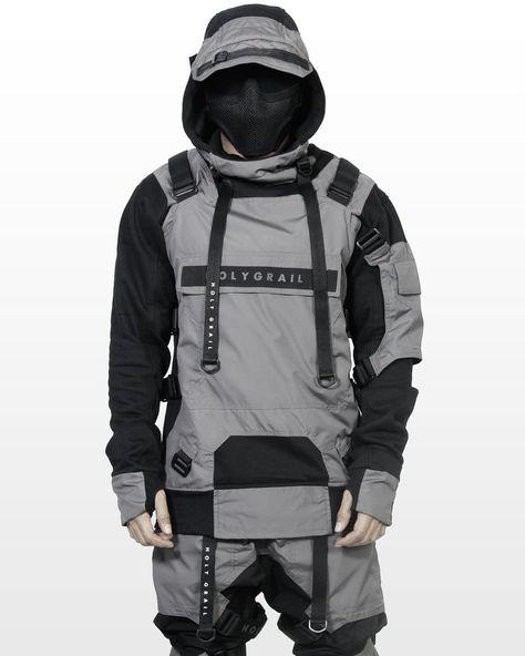 Material : Black Fleece Cotton Mix with Taslan Grey (water proof) Model wearing size 'XL' Model Weight/Height : 80kg/175cm