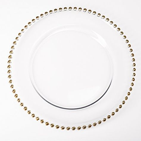 Pin By Whimchic On Gilded Charger Plates Plates Glass Beads