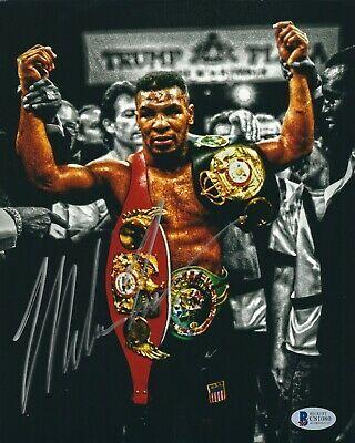 Sponsored Mike Tyson Signed Boxing Champion 8x10 Photo Iron Mike Bas Beckett C81080 Mike Tyson Boxing Champions 8x10 Photo