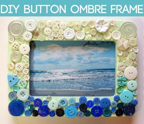 DIY Button Ombre Frame fun with kiddos!!