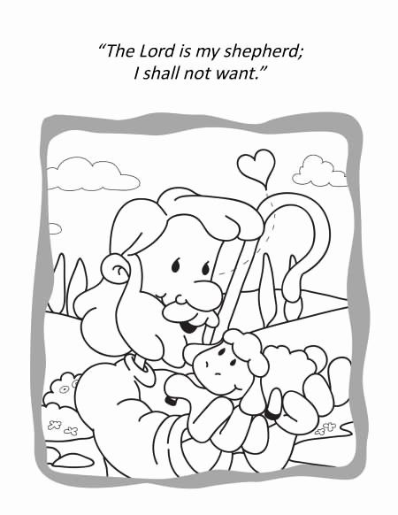 Psalm 23 Coloring Page Inspirational Psalm 23 For Kids Activities Psalm 23 Coloring And Acti Sunday School Coloring Pages Bible Coloring Pages Coloring Pages