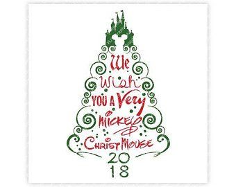 Disney Christmas Svg Etsy Disney Christmas Disney Silhouettes Disney Christmas Tree
