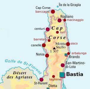 Carte Corse Erbalunga.Circuit Corse Zoom Sur Le Cap Corse Corse Corse Carte