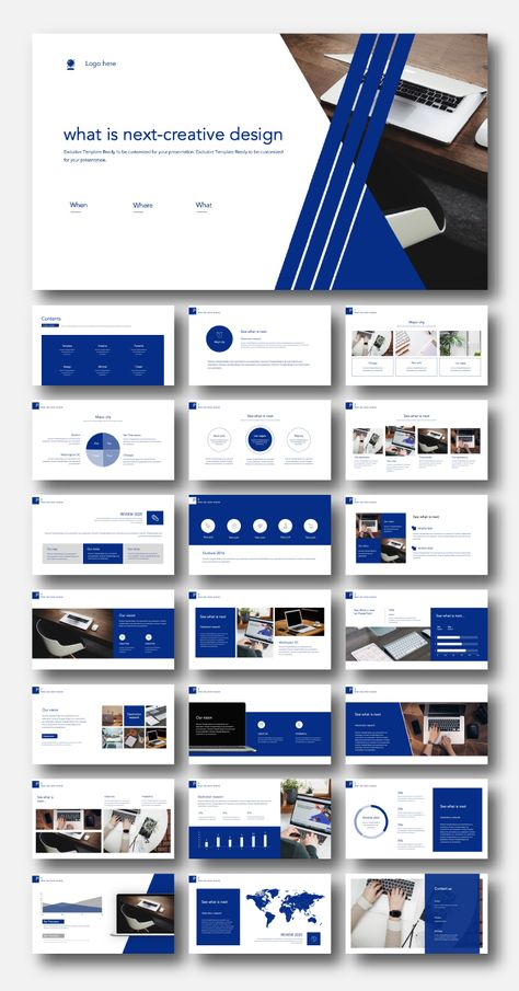 Blue Creative Design Premium PowerPoint Template – Original and High Quality PowerPoint Templates