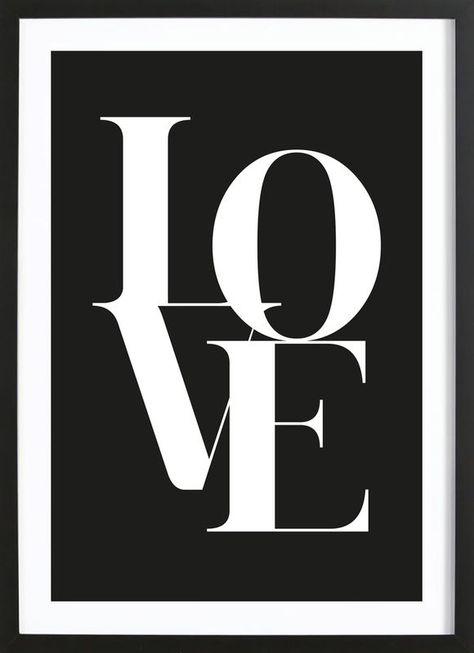 Love 1 als Poster im Holzrahmen von Froilein Juno   JUNIQE  #love #lovequotes #lovers #homedecorideas
