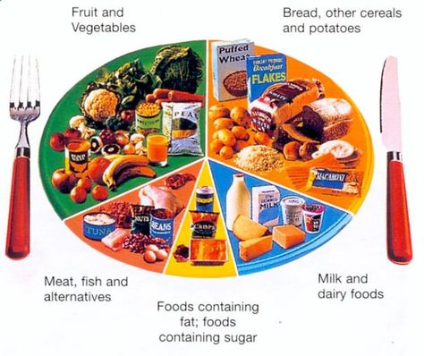 This Pie Chart shows a well balanced diet by comparing amount of different types of food.