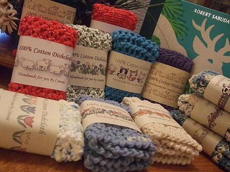 Ravelry: conicuts' My Dishcloth Wrapper Sets